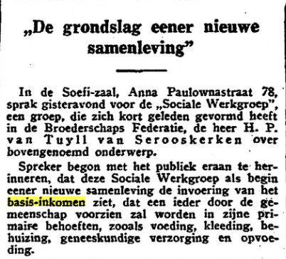 grondslag ener samenleving 1933