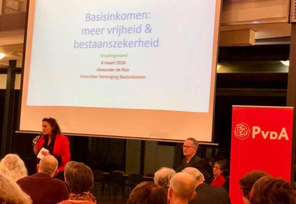 Basisteam Smallingerland (Drachten) organiseerde een goed bezocht politiek café