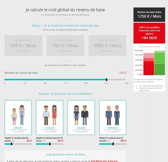App voor berekening Basisinkomen