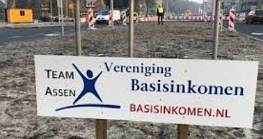 Eerste Basisinkomen-rotonde in Nederland - Assen (Drenthe)